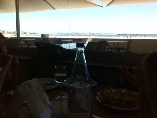 Golden Donaire Beach Hotel: Vista desde el comedor, al mar