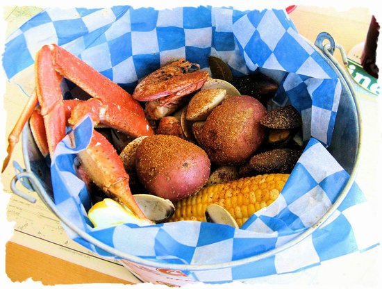 mad beach fish house: Bucket of seafood, a Seafood feast