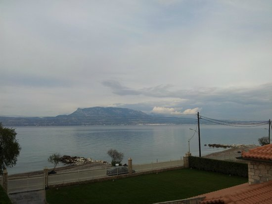 Chris Studios & Apartments: View from my room to the Golf of Corinth.