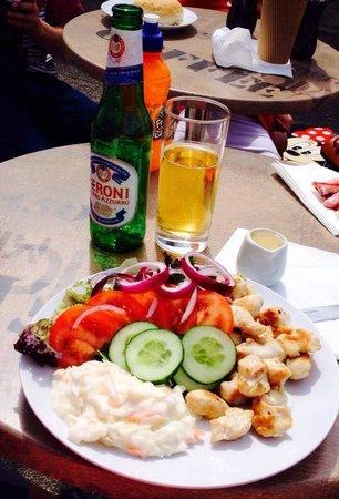 Verona Coffee : Chicken salad and Peroni beer