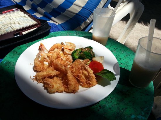 Friendly Vallarta All Inclusive Family Resort: CoConut Shrimp on the beach
