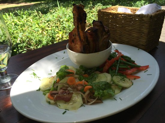 andBeyond Kichwa Tembo Tented Camp: This was lunch one day.  Pork chops and fresh veggies.