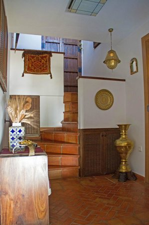 Solar Montes Claros: The staircase up to the room