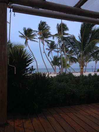 Playa Blanca Restaurant: View from my table