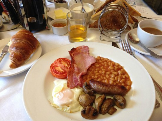 Full hot English breakfast at the Bailbrook Lodge