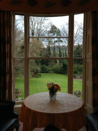 View of the garden from the community sitting room of The Bailbrook Lodge.