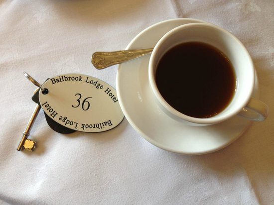 Bailbrook Lodge : Breakfast included coffee or tea.