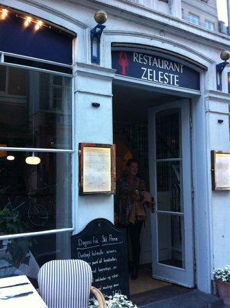 Restaurant Zeleste : The enterance