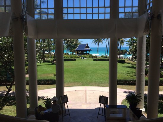 Centara Grand Beach Resort Samui: From lobby looking across garden.