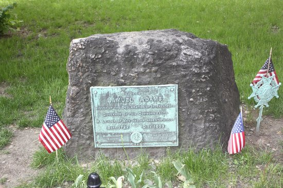 Lessons on Liberty : Samuel Adams' Grave in the Old Granary Burying Ground