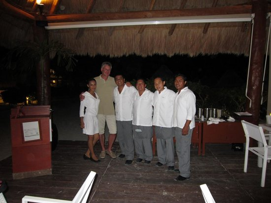 Beloved Playa Mujeres: Yassumi,Guillermo,Obed,Angel y Antonio - Restorante El Mar