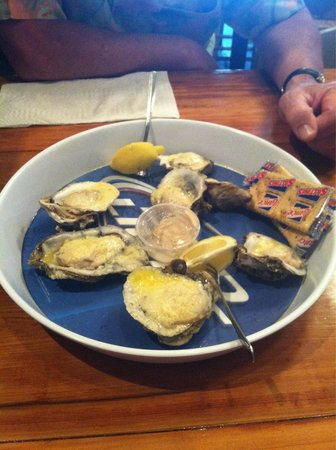 Hole In The Wall Seafood: Baked Parmesan butter oysters. Oh my goodness GOOD!