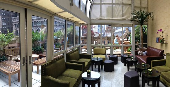 Library Hotel by Library Hotel Collection: Wonderful rooftop atrium