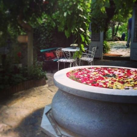 Nisanyan Evleri Hotel: the fountain at check in