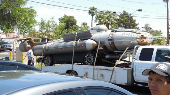 Segway Las Vegas: Mystery car seen on the tour.