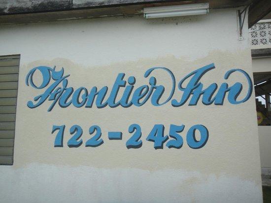 Frontier Inn: Sign.