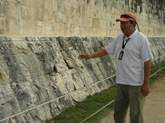 Chichen Itza With Jerry: Jerry sharing the meaning of the pictoglyphs