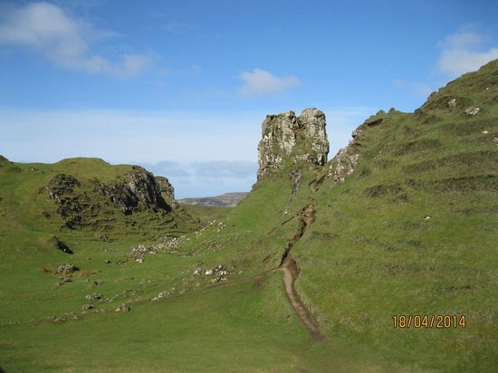 Fairy Glen : The rocky tower known as Castle Ewen