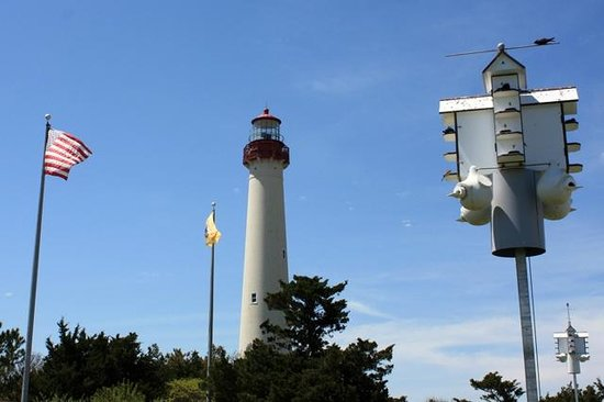 Cape May Lighthouse : Cape May Light and Purple Martin condos