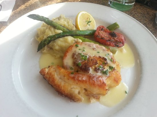 Chart House: Stuffed flounder is awesome