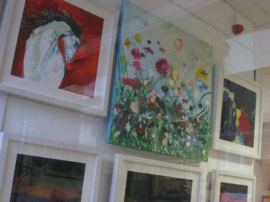 The Bank House: Gallery - with a new artist every month.