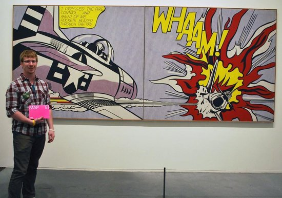 Joe Bond can't hide his excitement when seeing his favorite artist's work at the Tate Modern.