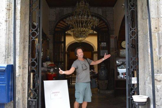 Front entrance of Hotel Frances.
