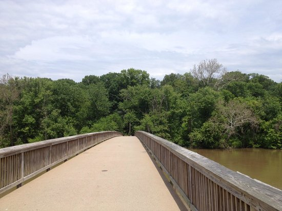 Theodore Roosevelt Island Park: The footbridge to get to the island
