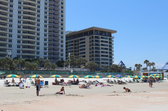 Daytona Beach Regency: Beach view of the hotel