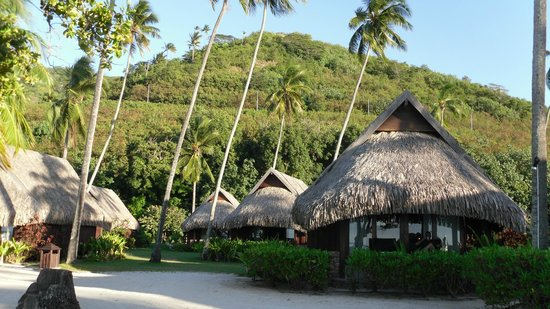 Sofitel Moorea Ia Ora Beach Resort : Beach front bungelow with garden units behind