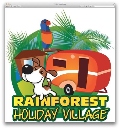 Rainforest Holiday Village : Park Logo