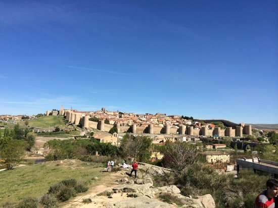The Walls of Avila : View of the city from the four columns