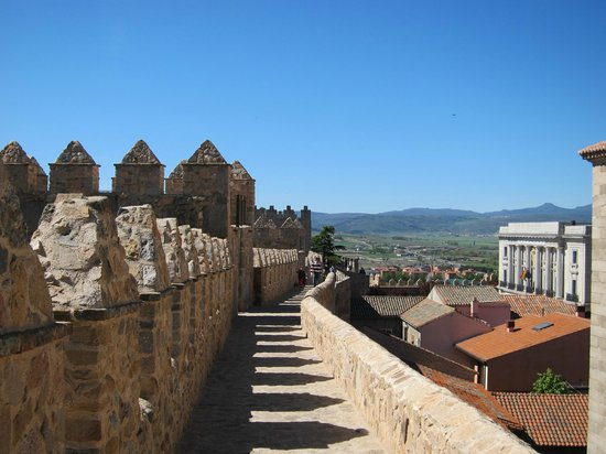 The Walls of Avila : Top of the wall