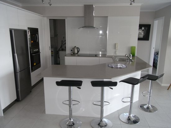 Moorings on Cavill Avenue: Modern and Spacious Kitchen