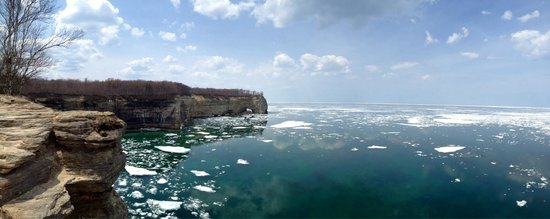 Pictured Rocks National Lakeshore: Lake Superior at Pictured Rocks.
