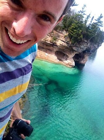 Pictured Rocks National Lakeshore: Pictured Rocks in May.