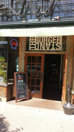 The Entrance of The Burger Stand
