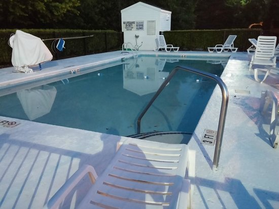 Baymont Inn & Suites Anderson Clemson : The pool looked clean but it was a bit cool to use it