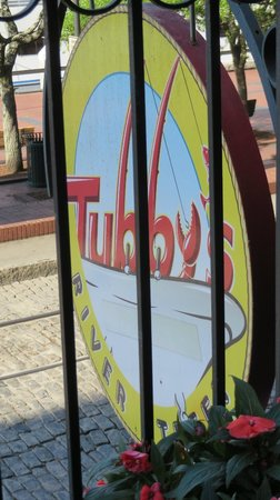 Tubby's Seafood: The restaurant sign.
