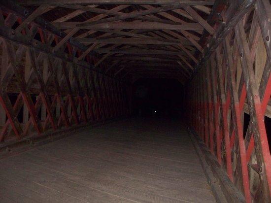 Sachs Covered Bridge: Sachs Bridge at night