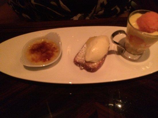 1919 Restaurant: trio of lemon desserts