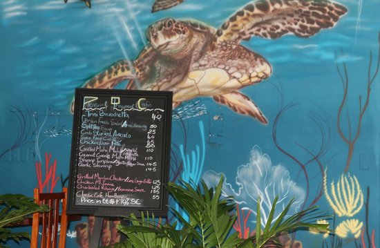 Pleasant Prospect Cafe: Painted walls with underwater scenes