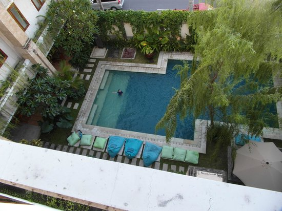 Sara Residence: View of pool from room