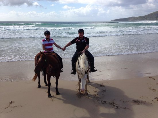 Equathon Horse Riding Tours - Day Tours : Hand in hand on our horsies.