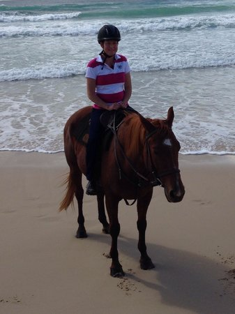 Equathon Horse Riding Tours - Day Tours : On my trusty steed. What a lovely Boy Scout is.