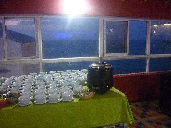 Hotel Calypso : Zona de comida
