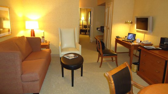 The St. Gregory Hotel: A view of the sitting area