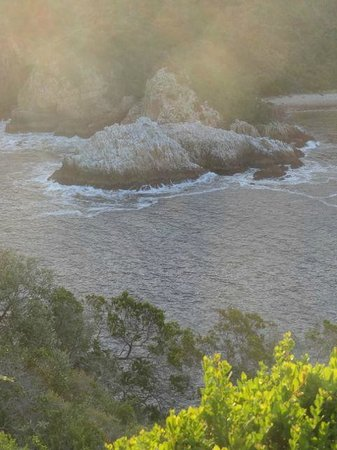 Knysna, South Africa: Looking down on the narrows.