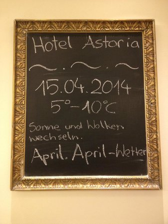 Austria Trend Hotel Astoria Wien : Daily Weather Board
