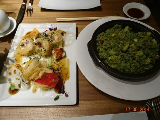 SOME OF THE EXCELLENT FOOD PRESENTED INSIDE IZUMI RESTAURANT, MAY 2014.